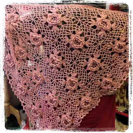 Skull Shawl Crossed Hooks Crochet